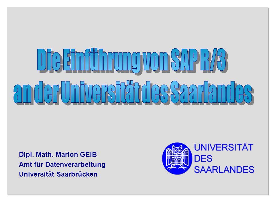 Die Einführung von SAP R/3 an der Universität des Saarlandes