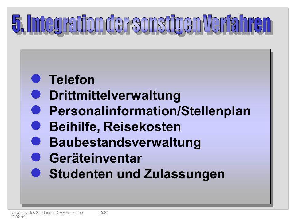5. Integration der sonstigen Verfahren