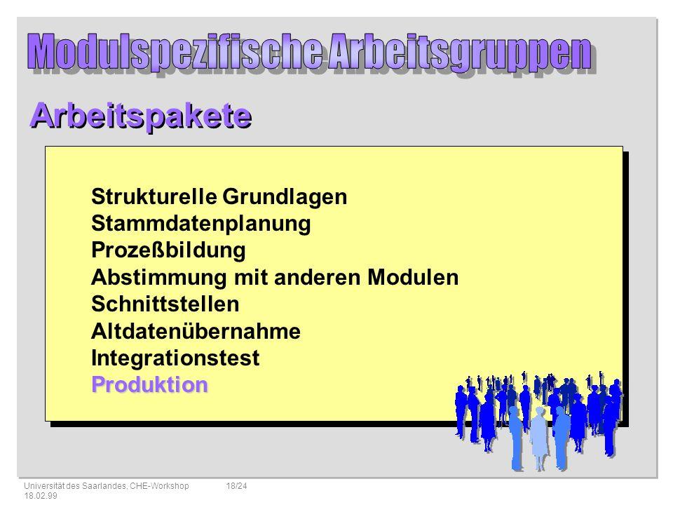 Modulspezifische Arbeitsgruppen