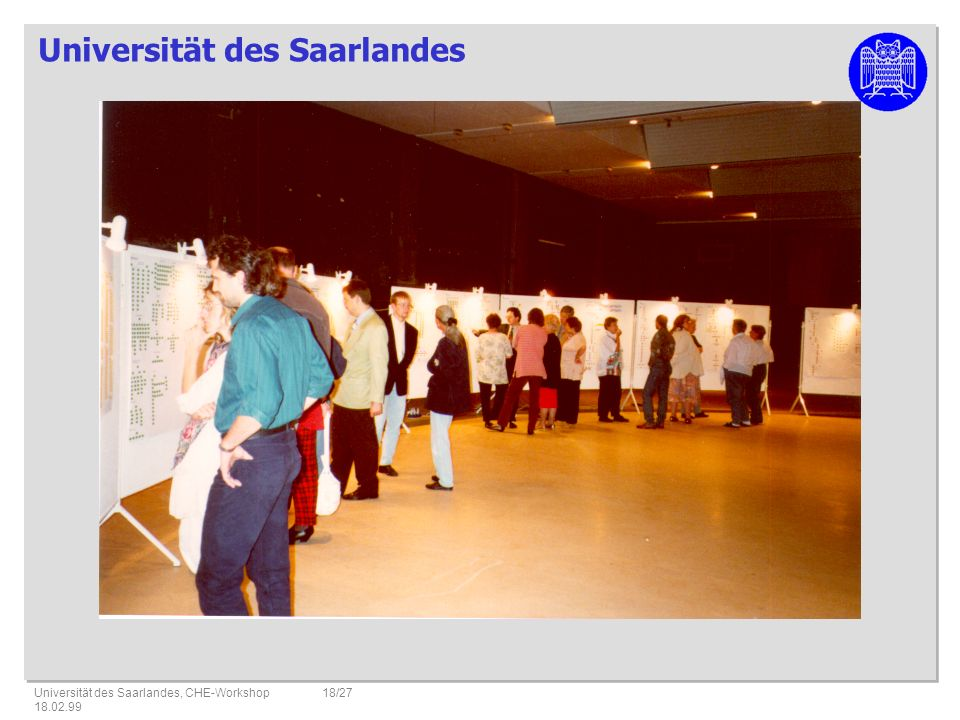 Universität des Saarlandes, CHE-Workshop 18.02.99