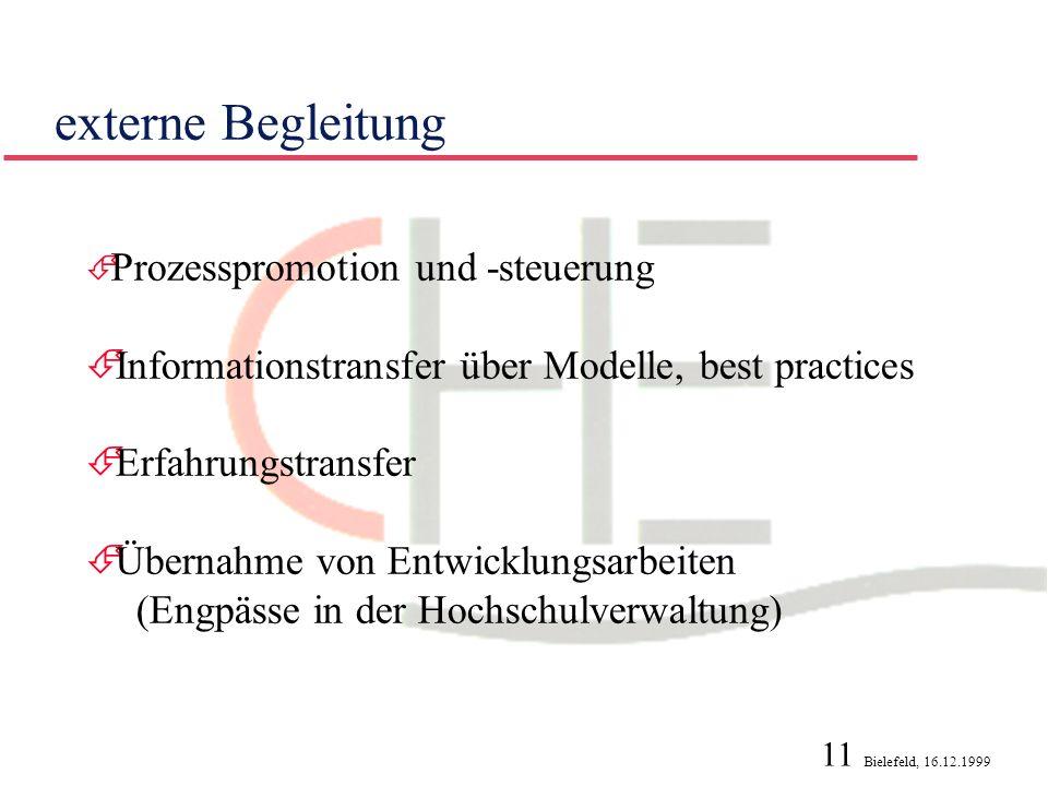 externe Begleitung Informationstransfer über Modelle, best practices