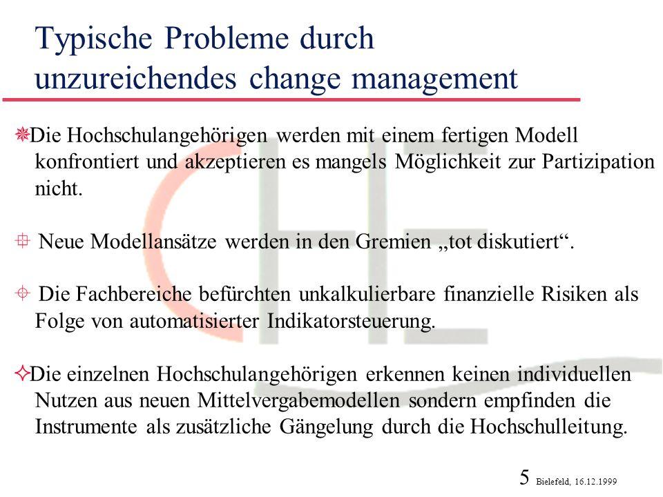 Typische Probleme durch unzureichendes change management