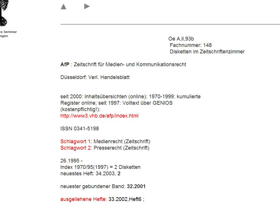 Dr. Klaus-Rainer Brintzinger Juristisches Seminar Tübingen