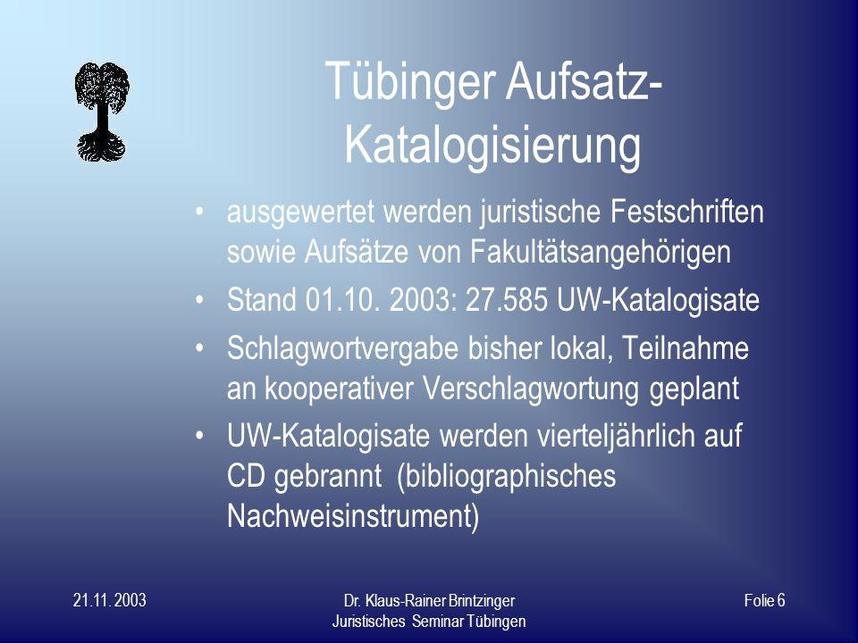Tübinger Aufsatz-Katalogisierung