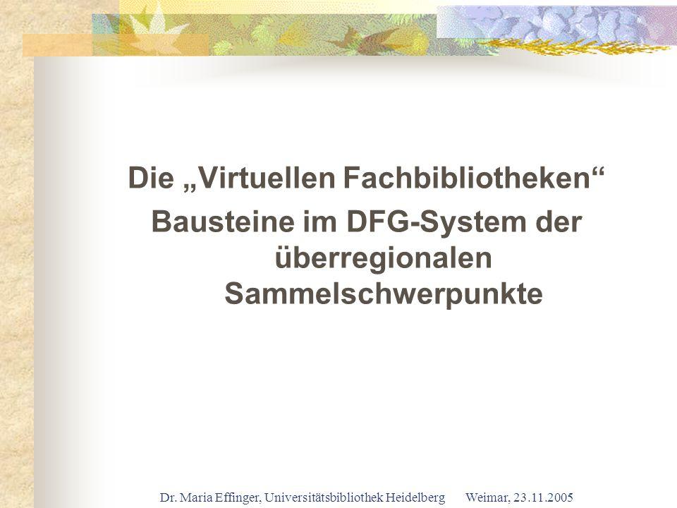 """Die """"Virtuellen Fachbibliotheken"""