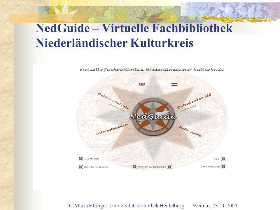 NedGuide – Virtuelle Fachbibliothek Niederländischer Kulturkreis