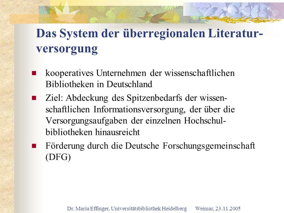 Das System der überregionalen Literatur- versorgung