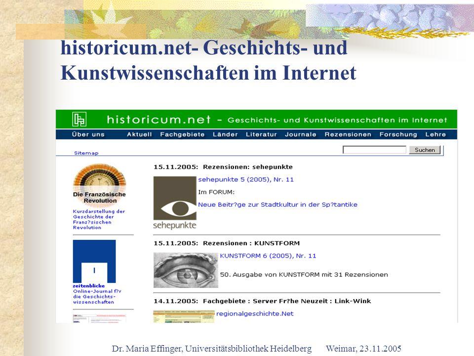 historicum.net- Geschichts- und Kunstwissenschaften im Internet