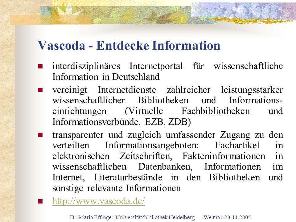 Vascoda - Entdecke Information