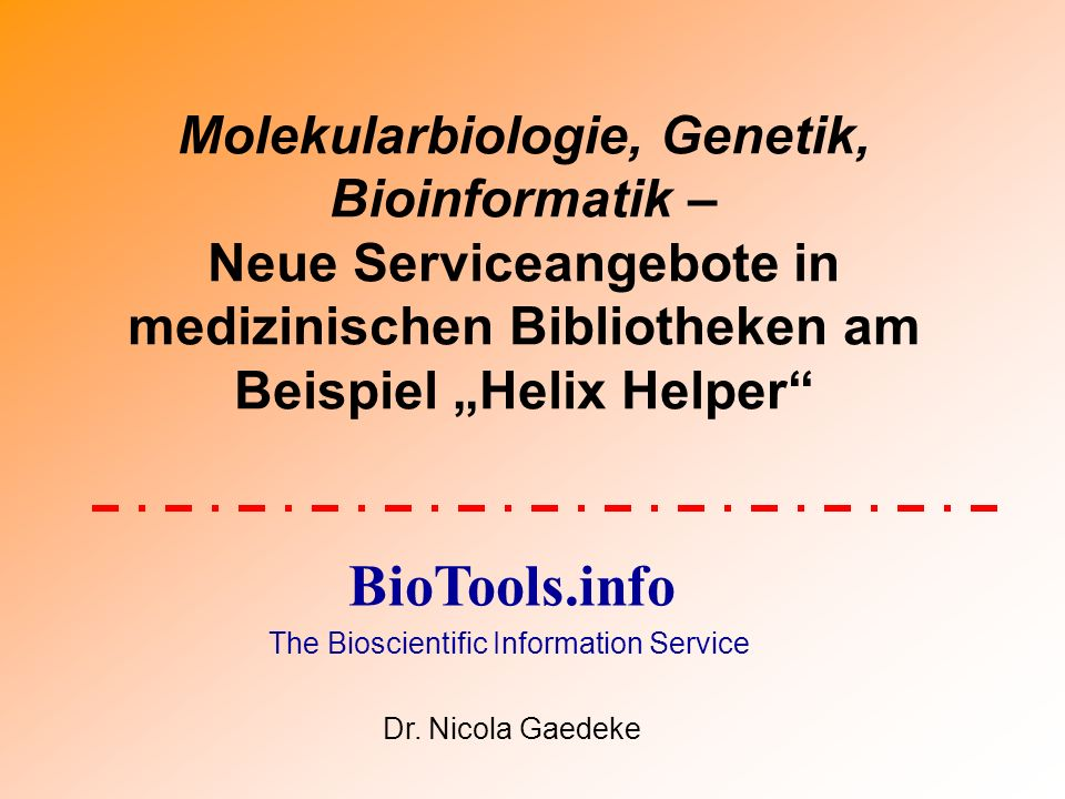 The Bioscientific Information Service