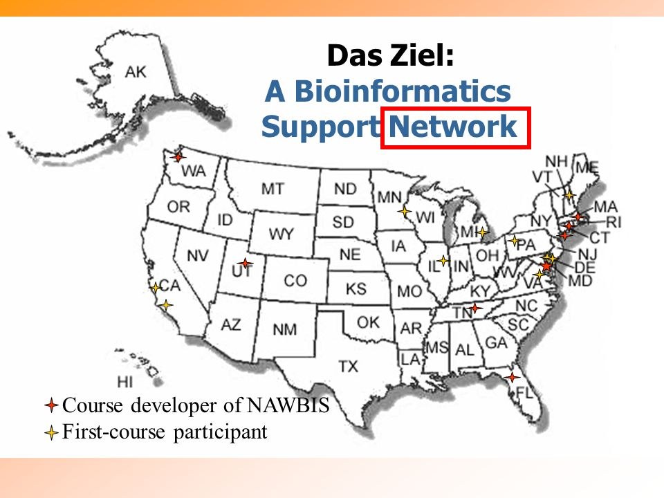 Das Ziel: A Bioinformatics Support Network Course developer of NAWBIS
