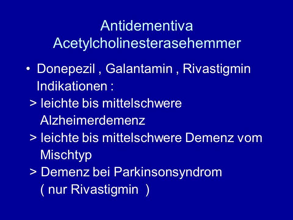Antidementiva Acetylcholinesterasehemmer
