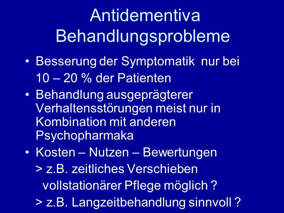 Antidementiva Behandlungsprobleme