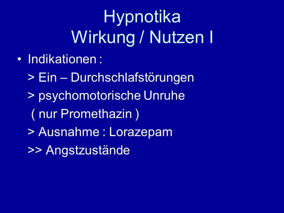 Hypnotika Wirkung / Nutzen I