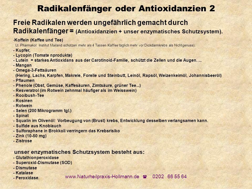 Radikalenfänger oder Antioxidanzien 2