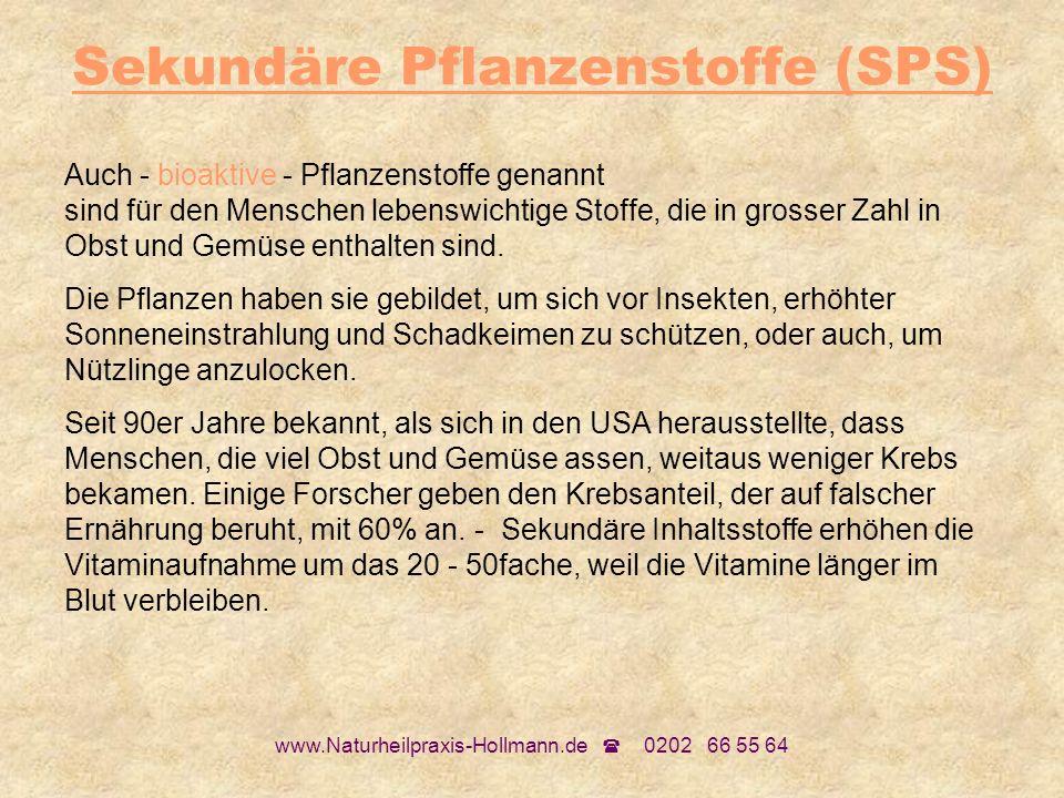 Sekundäre Pflanzenstoffe (SPS)