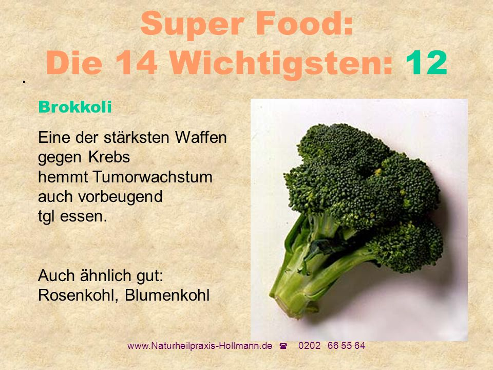 Super Food: Die 14 Wichtigsten: 12