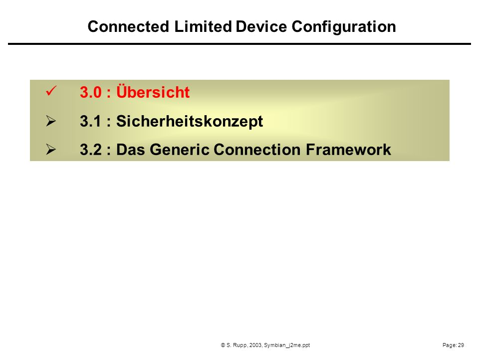 Connected Limited Device Configuration