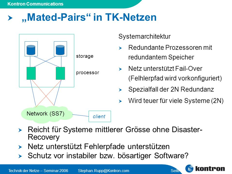 """Mated-Pairs in TK-Netzen"