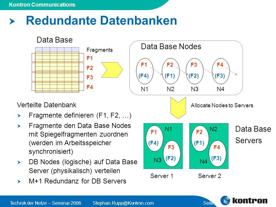 Redundante Datenbanken
