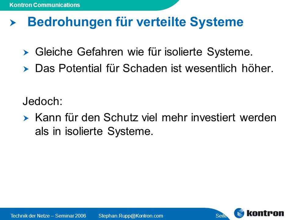 Bedrohungen für verteilte Systeme