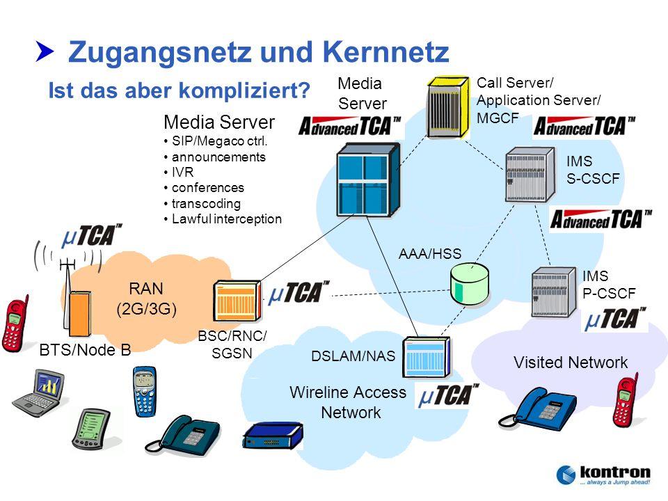 Zugangsnetz und Kernnetz