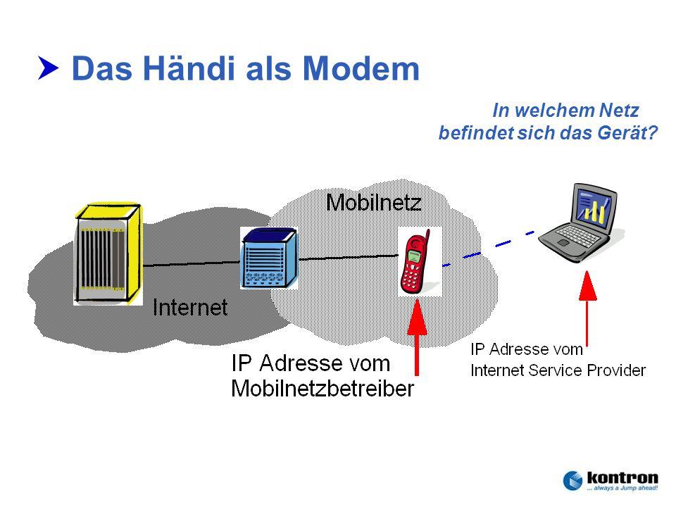 In welchem Netz befindet sich das Gerät