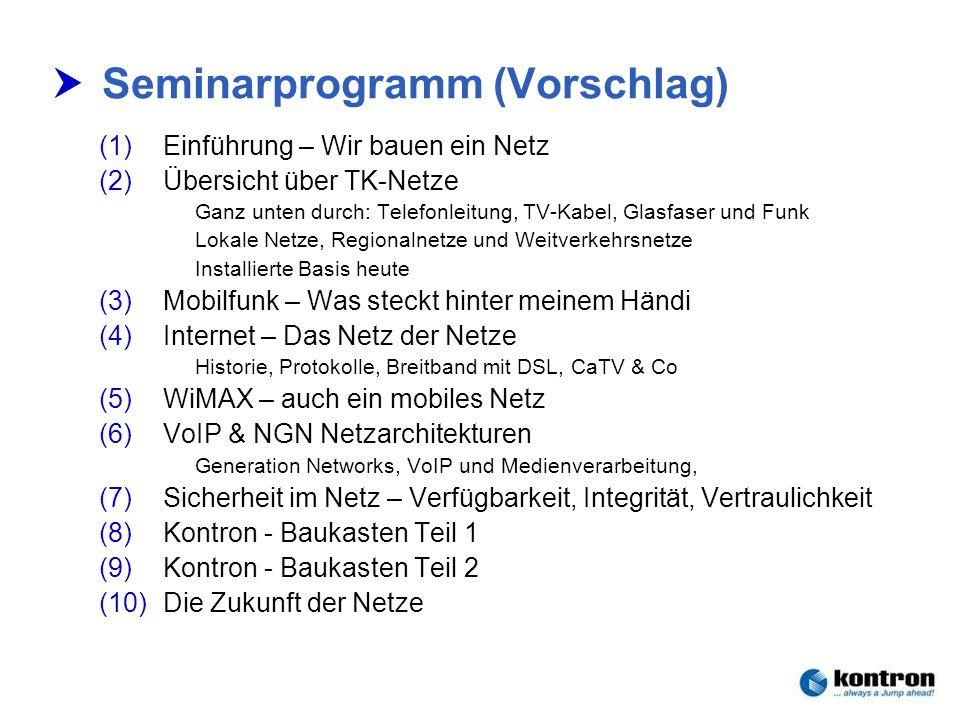 Seminarprogramm (Vorschlag)