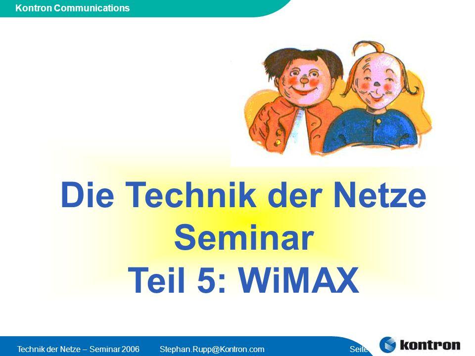 Die Technik der Netze Seminar Teil 5: WiMAX