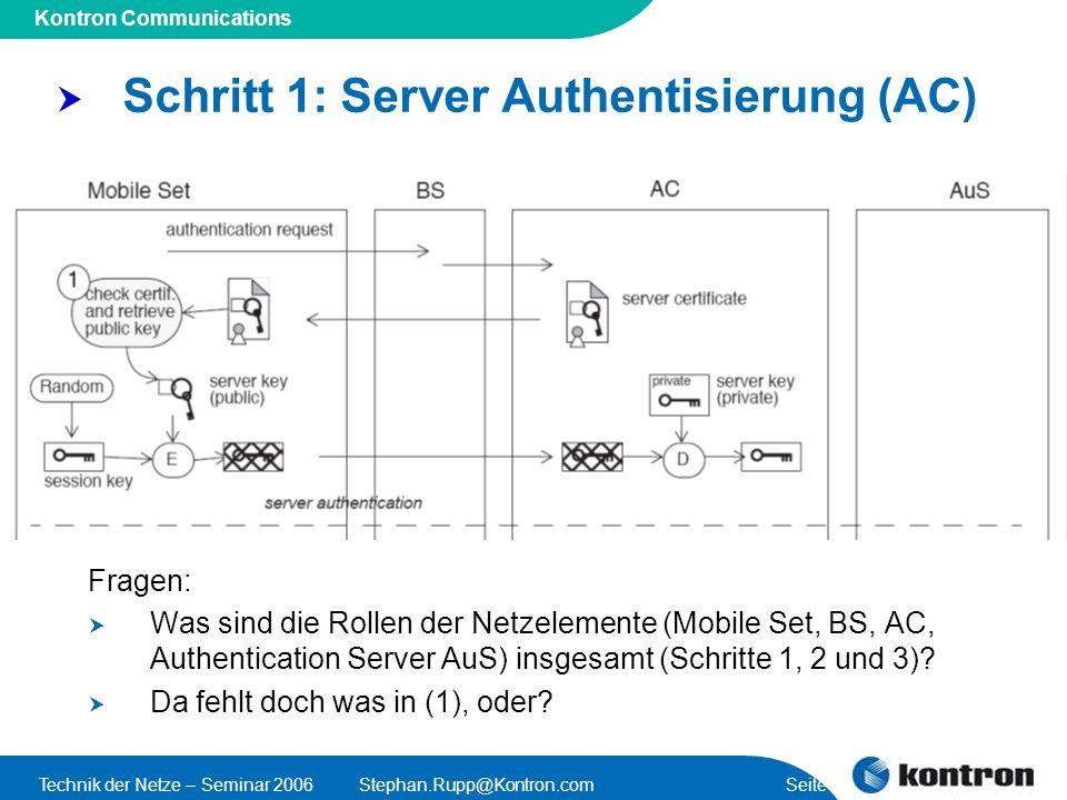 Schritt 1: Server Authentisierung (AC)
