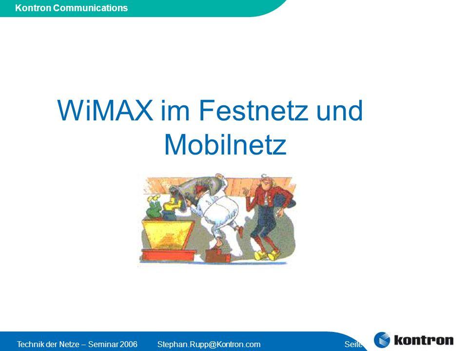 WiMAX im Festnetz und Mobilnetz