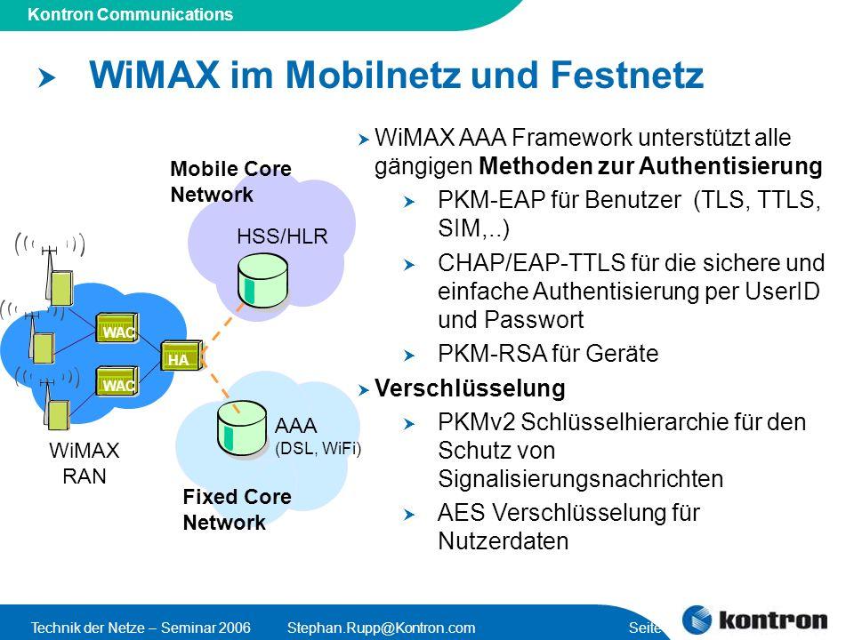 WiMAX im Mobilnetz und Festnetz