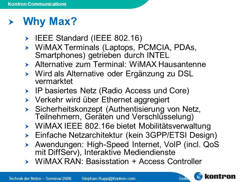 Why Max IEEE Standard (IEEE 802.16)