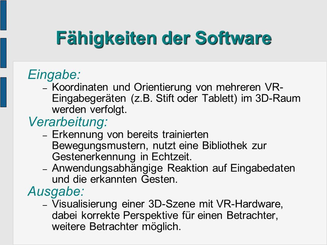 Fähigkeiten der Software