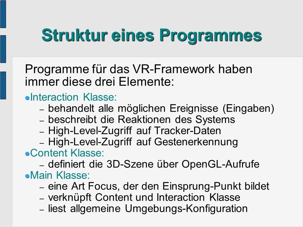 Struktur eines Programmes