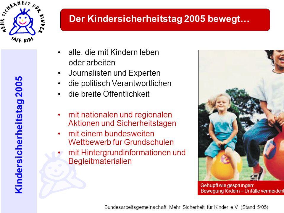 Der Kindersicherheitstag 2005 bewegt…