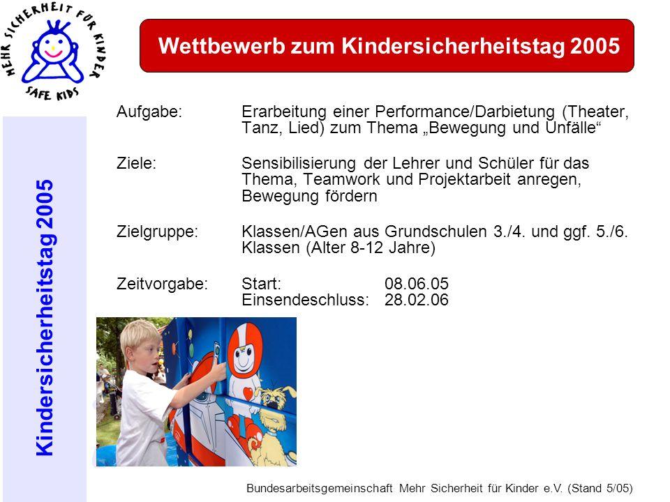 Wettbewerb zum Kindersicherheitstag 2005