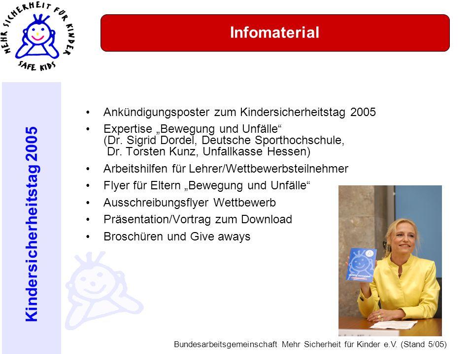 Infomaterial Ankündigungsposter zum Kindersicherheitstag 2005