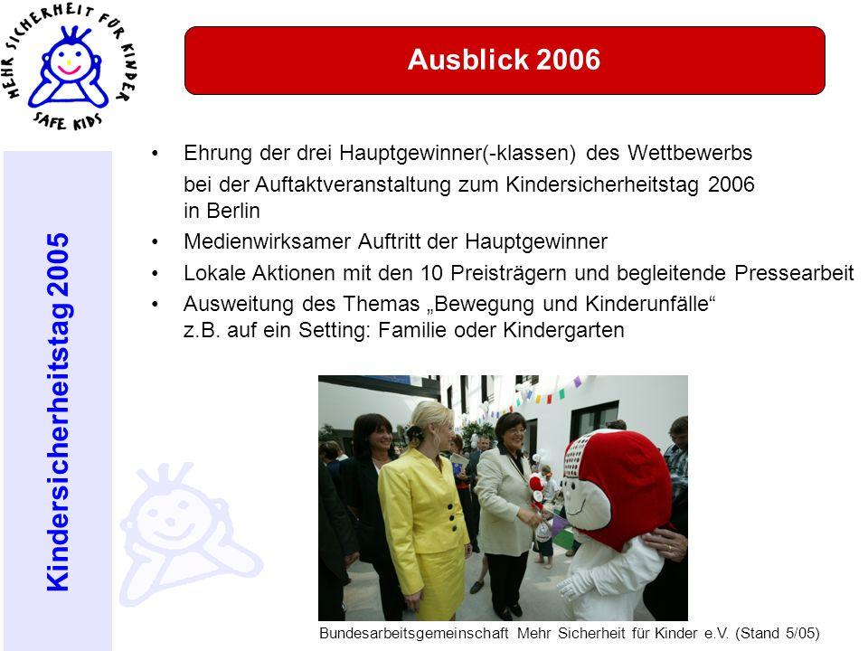 Ausblick 2006 Ehrung der drei Hauptgewinner(-klassen) des Wettbewerbs