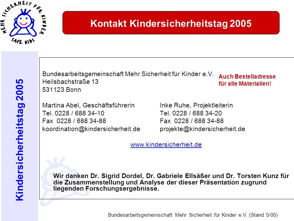 Kontakt Kindersicherheitstag 2005