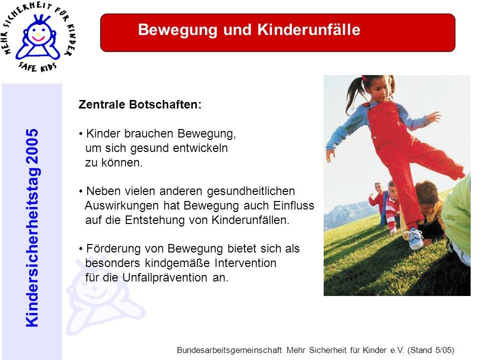Bewegung und Kinderunfälle