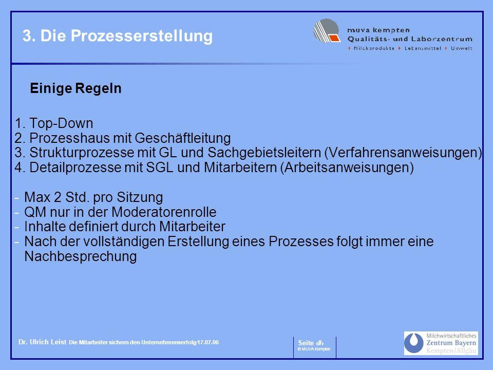 3. Die Prozesserstellung