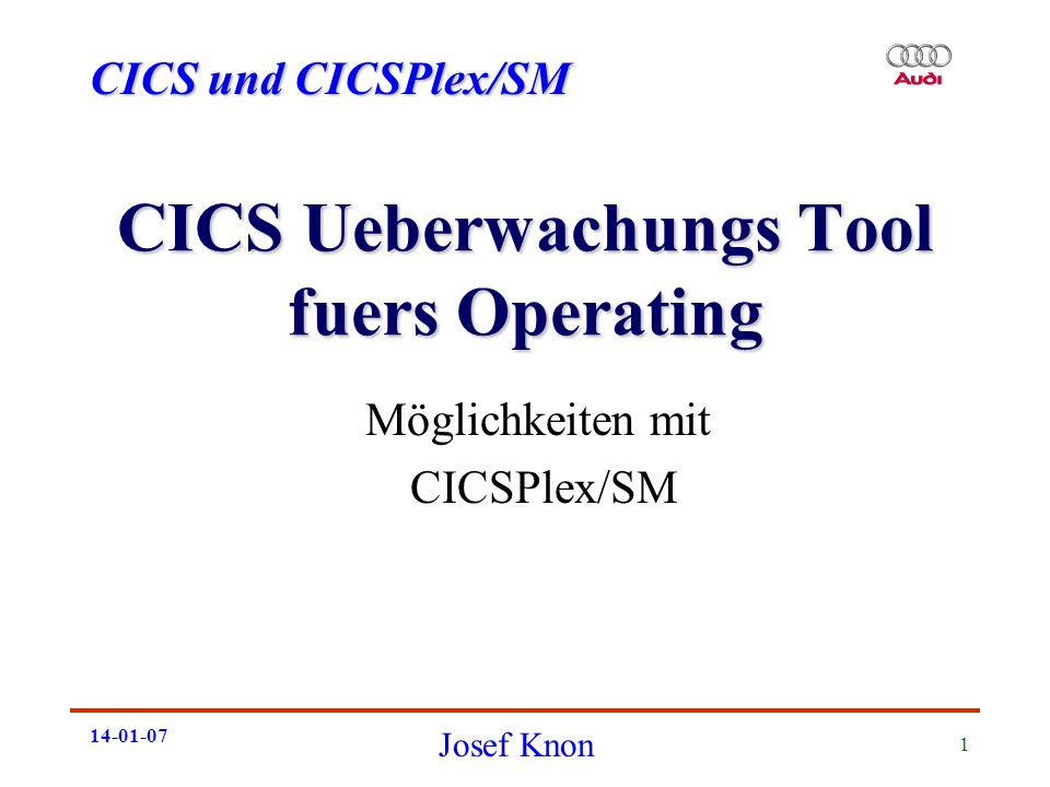 CICS Ueberwachungs Tool fuers Operating