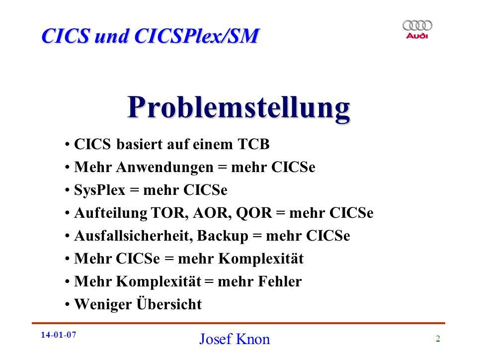 Problemstellung CICS basiert auf einem TCB