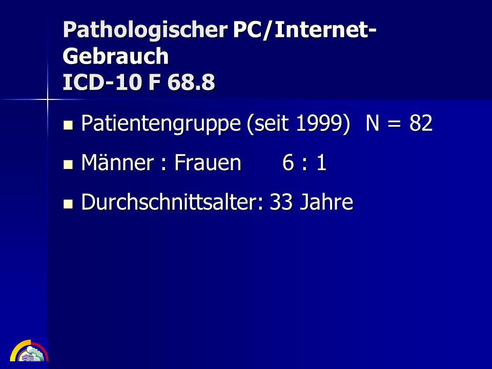 Pathologischer PC/Internet-Gebrauch ICD-10 F 68.8
