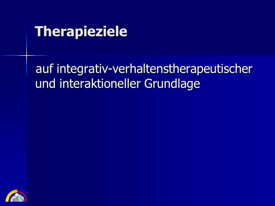 Therapieziele auf integrativ-verhaltenstherapeutischer und interaktioneller Grundlage