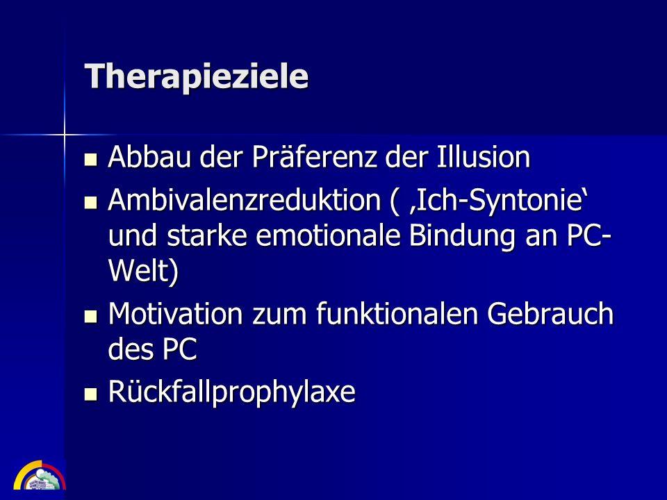 Therapieziele Abbau der Präferenz der Illusion