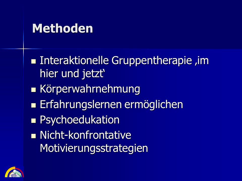 Methoden Interaktionelle Gruppentherapie 'im hier und jetzt'