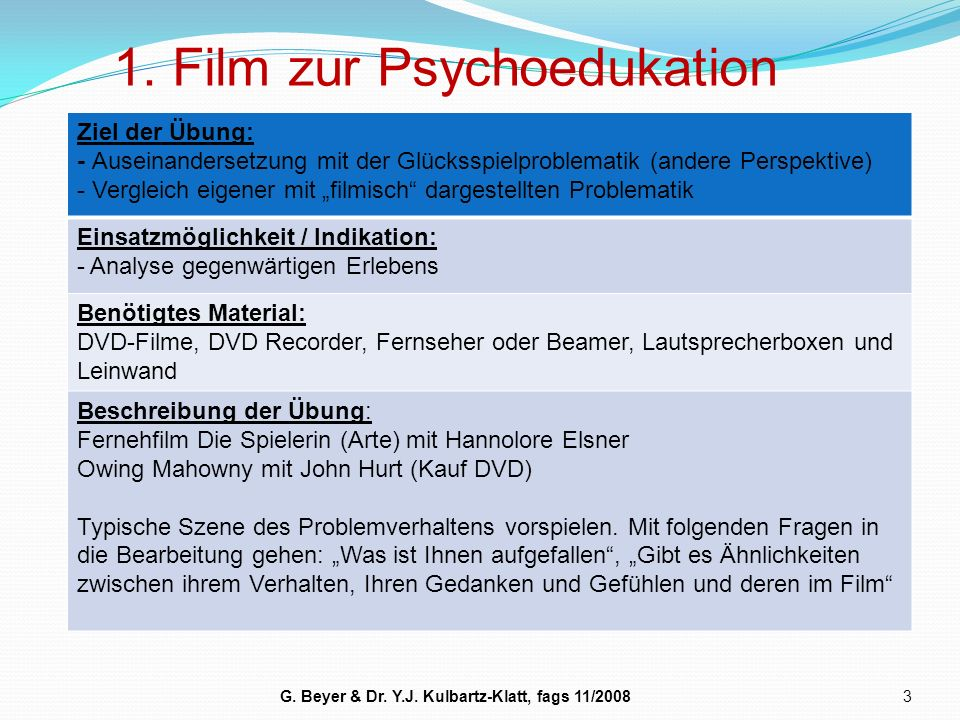 1. Film zur Psychoedukation