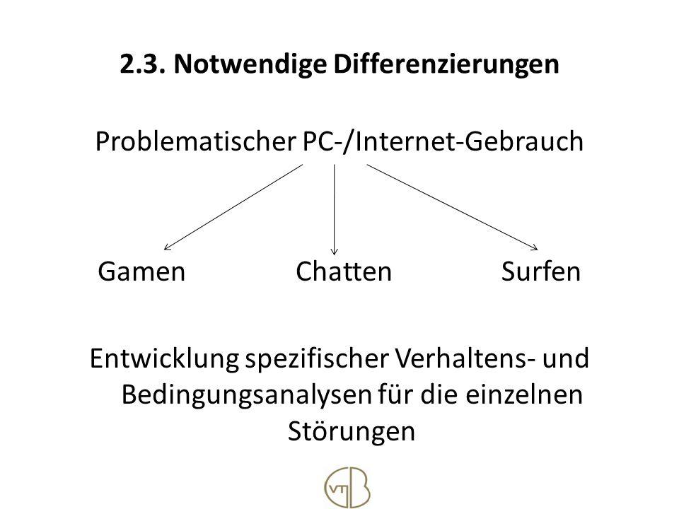 2.3. Notwendige Differenzierungen